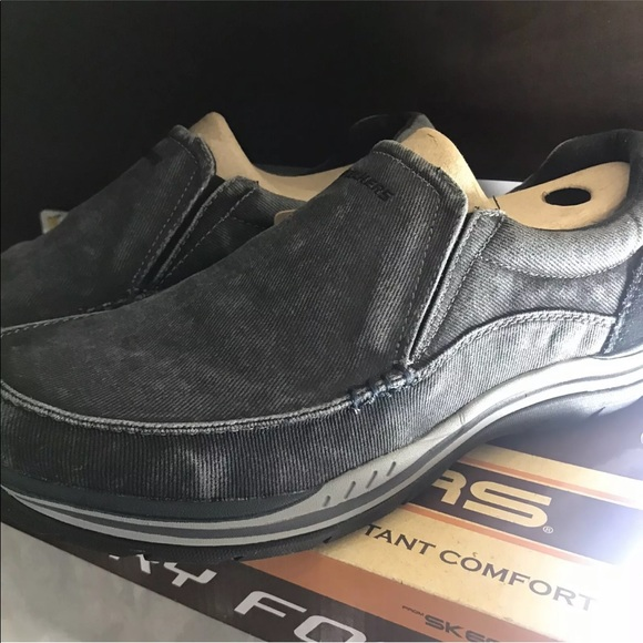 New Skechers Men's 64109 Avillio Vintage Washed Bk